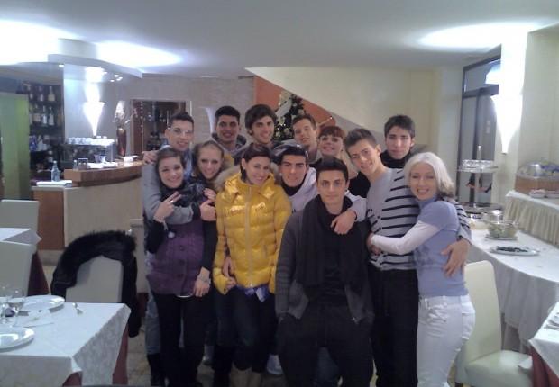 con i ragazzi del serale di AMICI 2011