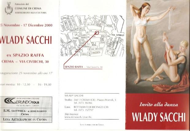 il pittore Milanese Wlady Sacchi dipinge Maria su tela
